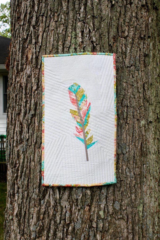 feather mini quilt by Kim Soper/Leland Ave Studios