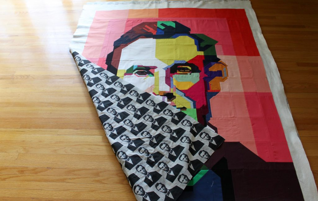 lincoln quilt is basted!