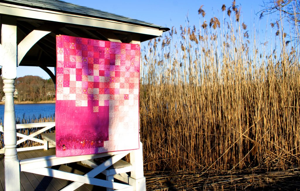 the girliest quilt I could think of.